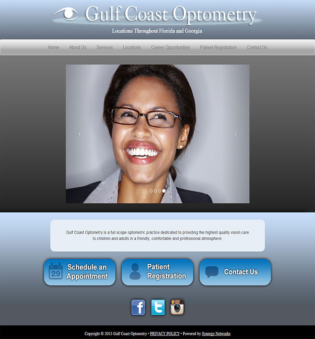 Gulf Coast Optometry Website
